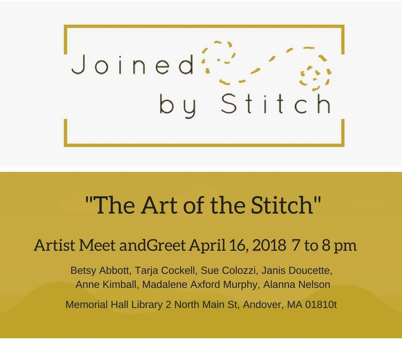 North of Boston Fiber Artists event April 17