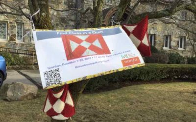 A New England December Yarn Bombing