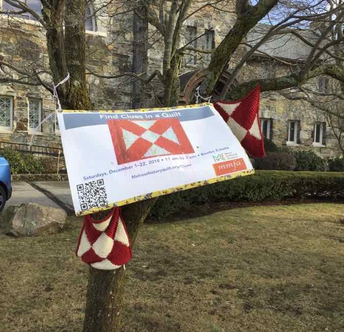 Yarn Storm 2018 for Melrose History Quilt celebration at Methodist Church