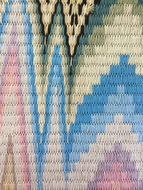 Silk bargello embroidery by Alanna Nelson